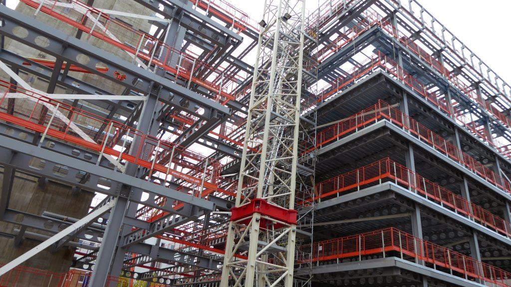 Colourful building framework