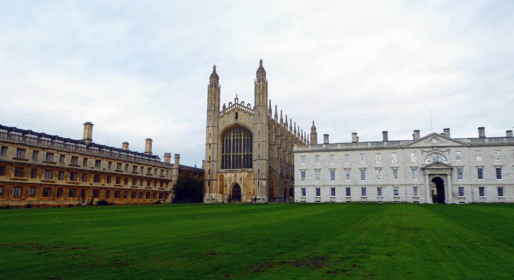 Kings College grounds in Cambridge