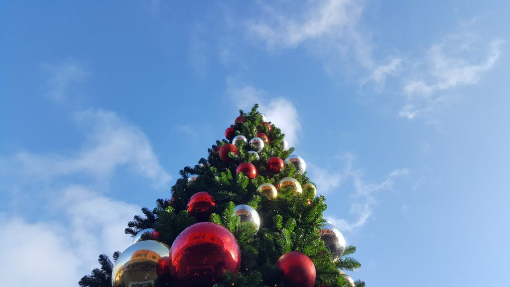 Christmas tree in the sky