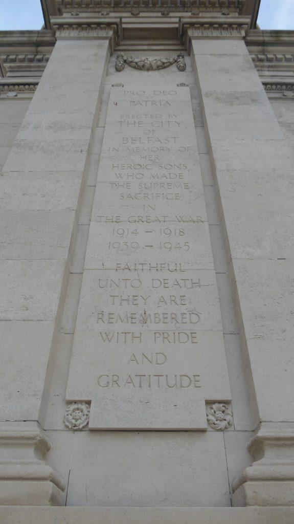 War memorial in a city