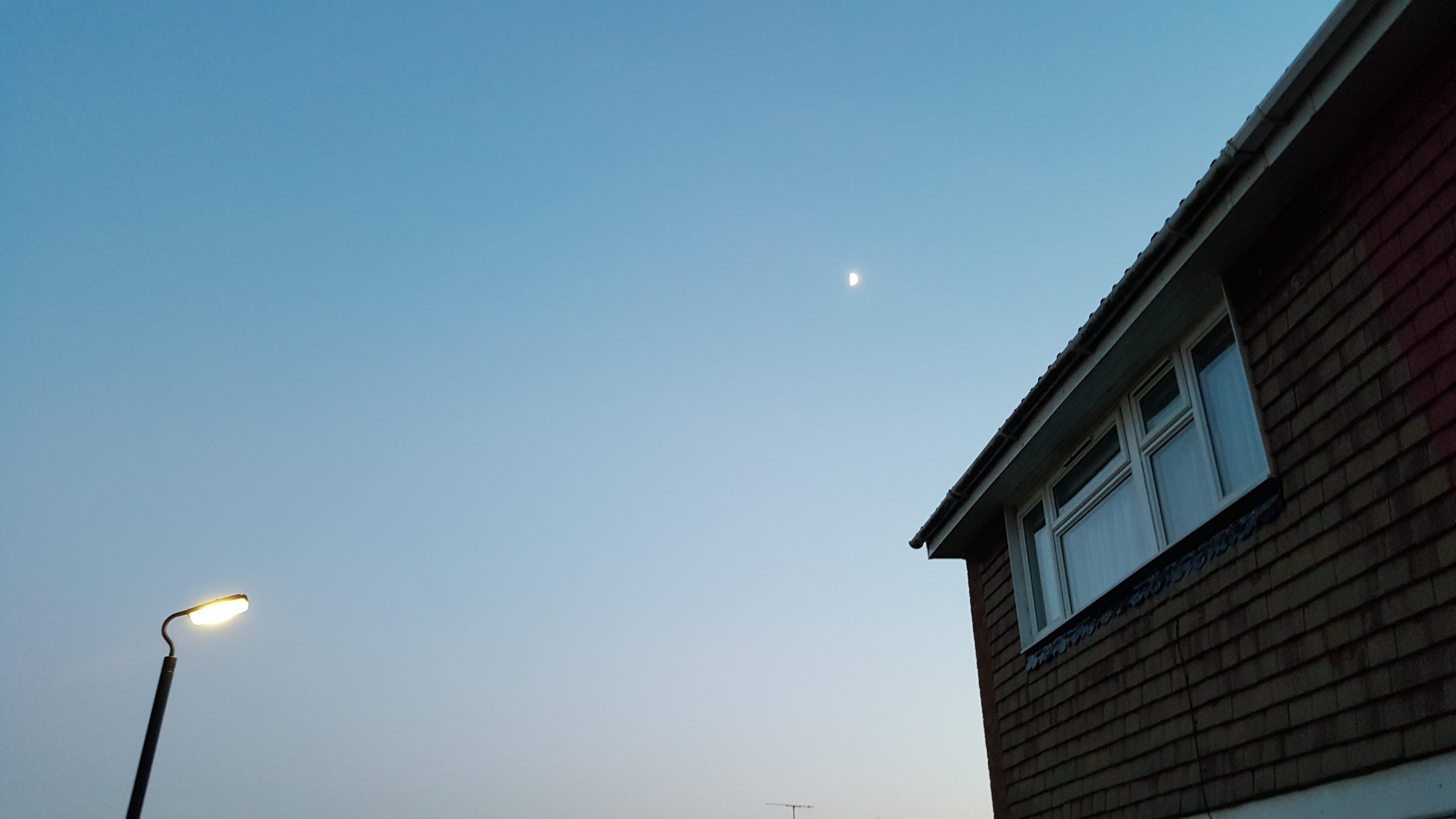 House Moon and lamp