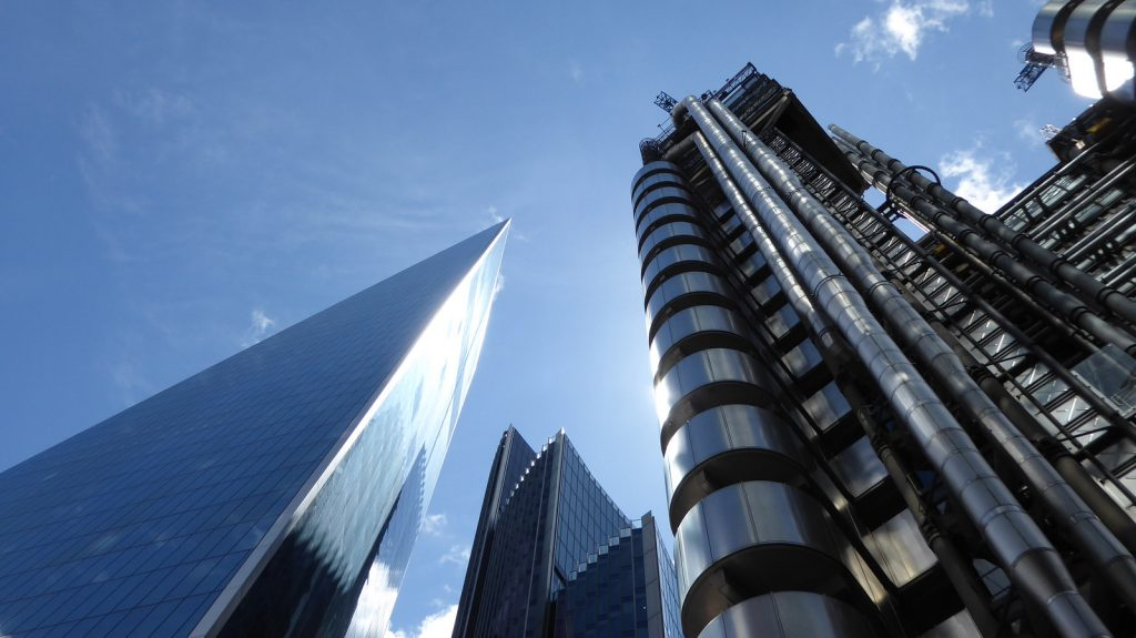 City of London skyline - The Lloyds Building