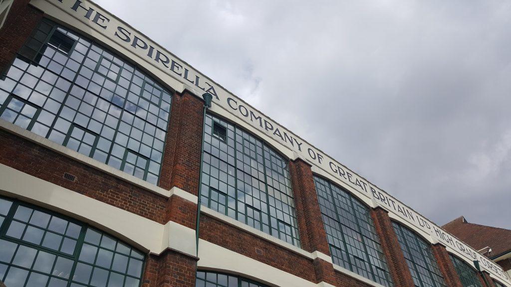The Spirella Building typography