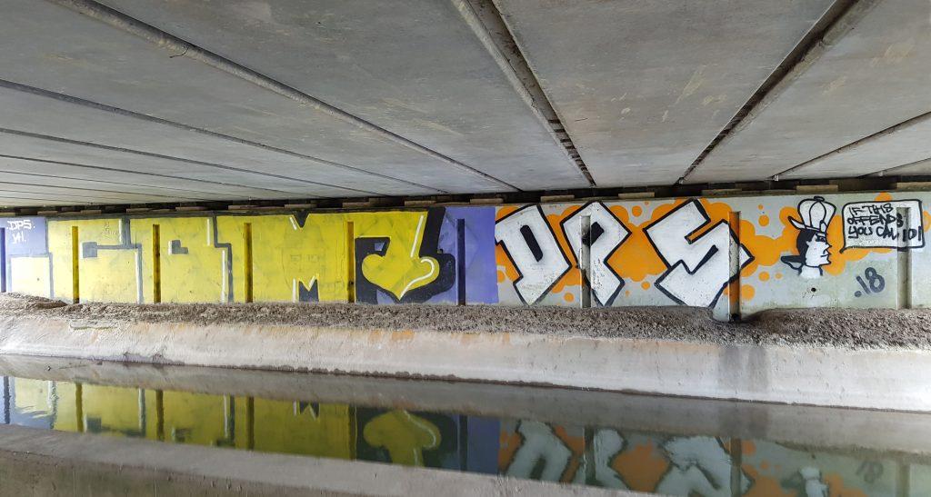 Under bridge graffiti art